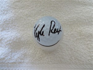 Kyle Reifers autographed 2016 Northern Trust Open tournament used Titleist golf ball