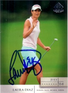 Laura Diaz autographed 2004 SP Signature golf card