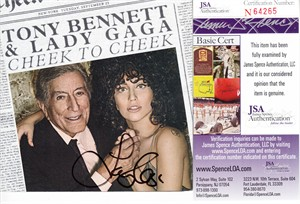 Lady Gaga autographed Cheek to Cheek CD booklet (JSA)