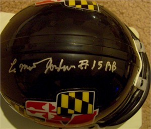 LaMont Jordan autographed Maryland Terrapins throwback mini helmet