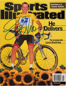 Lance Armstrong autographed 2001 Sports Illustrated (Schwartz Sports)