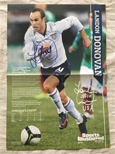 Landon Donovan autographed U.S. Soccer Sports Illustrated for Kids mini poster