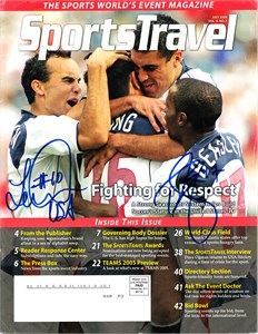 Landon Donovan and DaMarcus Beasley autographed US Soccer magazine cover