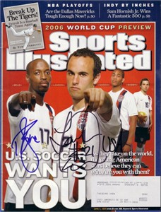 Landon Donovan & DaMarcus Beasley autographed 2006 US Soccer World Cup Sports Illustrated
