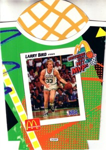 Larry Bird Boston Celtics 1994 McDonald's Nothing But Net MVPs french fry container