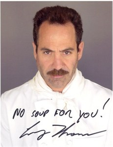 Larry Thomas autographed Seinfeld Soup Nazi 8x10 photo inscribed NO SOUP FOR YOU!