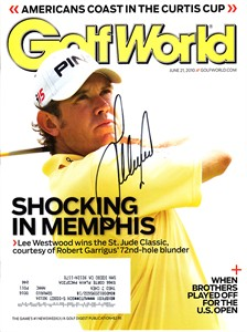 Lee Westwood autographed 2010 Golf World magazine