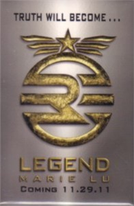 Legend by Marie Lu 2011 Comic-Con promo button or pin