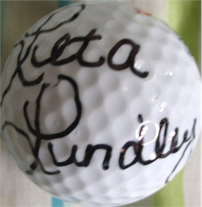 Leta Lindley autographed golf ball