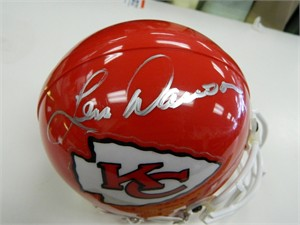 Len Dawson autographed Kansas City Chiefs mini helmet