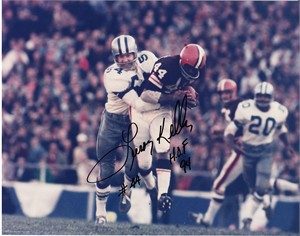 Leroy Kelly autographed Cleveland Browns 8x10 horizontal photo inscribed HOF 94