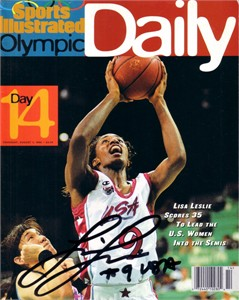 Lisa Leslie autographed 1996 Sports Illustrated Olympic Daily magazine