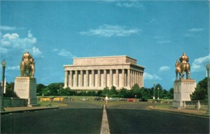 Lincoln Memorial 1960s color postcard