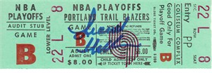 Lionel Hollins autographed Portland Trail Blazers NBA Playoffs ticket