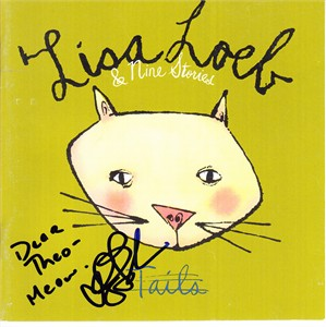 Lisa Loeb autographed Tails CD booklet (inscribed to Theo)