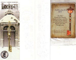 Locke & Key IDW 2012 Wondercon promo lot (bookmark trading card temporary tattoos)