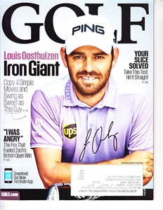 Louis Oosthuizen autographed 2010 British Open Golf World magazine