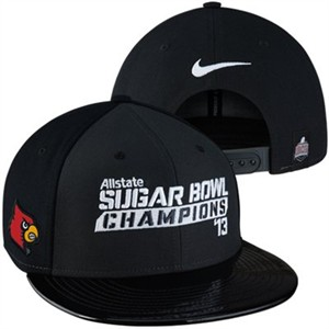 Louisville Cardinals 2013 Allstate Sugar Bowl Champions Nike locker room cap or hat (flat brim snapback)
