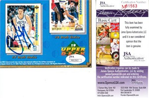 Luc Longley autographed Minnesota Timberwolves 1992 Upper Deck card sheet cut signature (JSA)