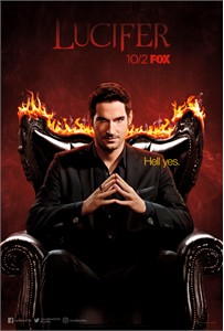 Lucifer 2017 Comic-Con Fox mini 11x17 poster (Tom Ellis)