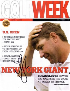 Lucas Glover autographed 2009 U.S. Open Golf Week magazine