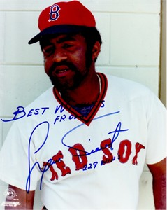 Luis Tiant autographed Boston Red Sox 8x10 photo inscribed 229 WINS