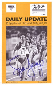 Lynn Jennings autographed 1996 Olympic Team Trials Update