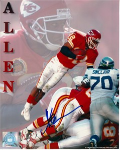 Marcus Allen autographed Kansas City Chiefs 8x10 photo