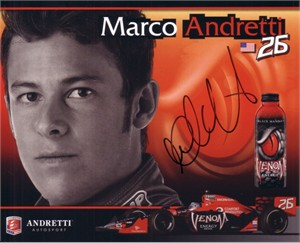 Marco Andretti autographed photo card