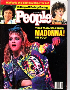 Madonna 1985 People magazine (no subscription label)