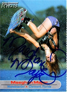 Maeghan Major autographed Sports Illustrated for Kids card