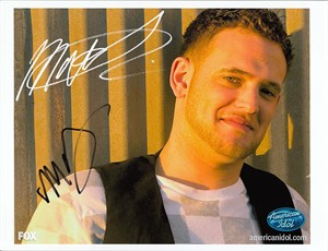 Matt Giraud autographed 2009 American Idol 8x10 photo