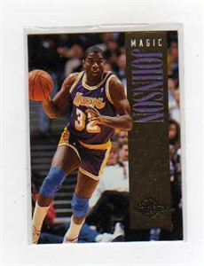 Magic Johnson Lakers 1994-95 SkyBox exchange card