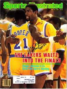 Magic Johnson autographed Los Angeles Lakers 1982 Sports Illustrated