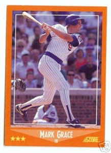 Mark Grace Chicago Cubs 1988 Score Rookie/Traded Rookie Card #80T