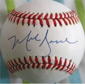 Mark Grace autographed National League baseball