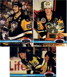 Mario Lemieux Pittsburgh Penguins 1991-92 Stadium Club Charter Member & Members Only set (3)