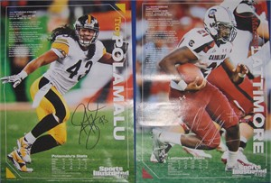 Marcus Lattimore South Carolina & Troy Polamalu Pittsburgh Steelers double sided 2011 Sports Illustrated for Kids mini poster