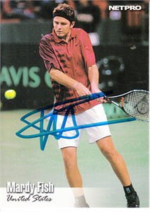 Mardy Fish autographed 2003 NetPro tennis card