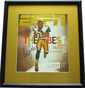 Marshall Faulk autographed St. Louis Rams ESPN Magazine cover framed