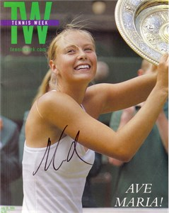 Maria Sharapova autographed 2004 Tennis Week magazine