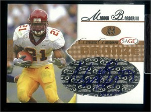Marion Barber certified autograph Minnesota Golden Gophers 2005 SAGE Hit card #/500