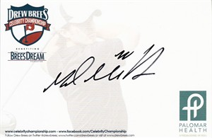 Mark Mulder autographed 4x6 signature card