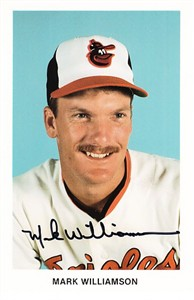 Mark Williamson autographed Baltimore Orioles photo postcard
