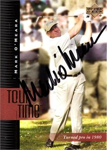Mark O'Meara autographed 2001 Upper Deck golf card
