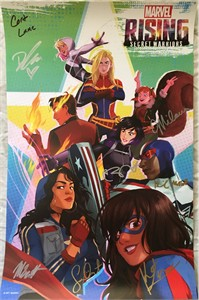 Marvel Rising cast autographed 2018 Comic-Con 13x20 poster (Chloe Bennet Dove Cameron)