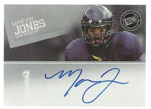Marvin Jones certified autograph 2012 Press Pass card
