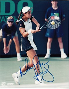 Mary Joe Fernandez autographed 8x10 tennis photo
