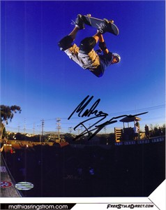 Mathias Ringstrom autographed 8x10 skateboarding photo