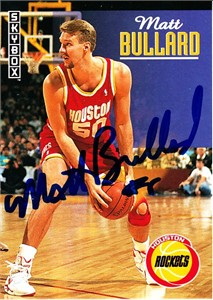 Matt Bullard autographed Houston Rockets 1992-93 SkyBox card